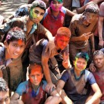 Belgaum Georgians Celebrating Holi Festival