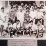 Hocky star Ashok Kumar with Dholpur Military School Hocky Team