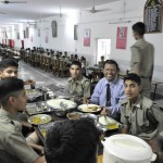 SK Lal Sir with Cadets at School Mess, RMSA