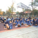 Yoga classes at Rashtriya Military School, Belgaum