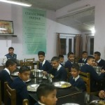 Virender Sambyal with cadets in Chail Military School Mess