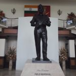 More than life-size statue of Field Marshal Sam Hormusji Framji Jamshedji Manekshaw
