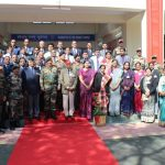 COAS with Teachers and office staff inside the new Cariappa hostel