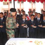 Lt Gen Soni having high tea with cadets
