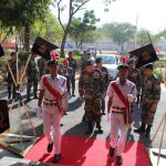COAS at the gate of Assembly hall
